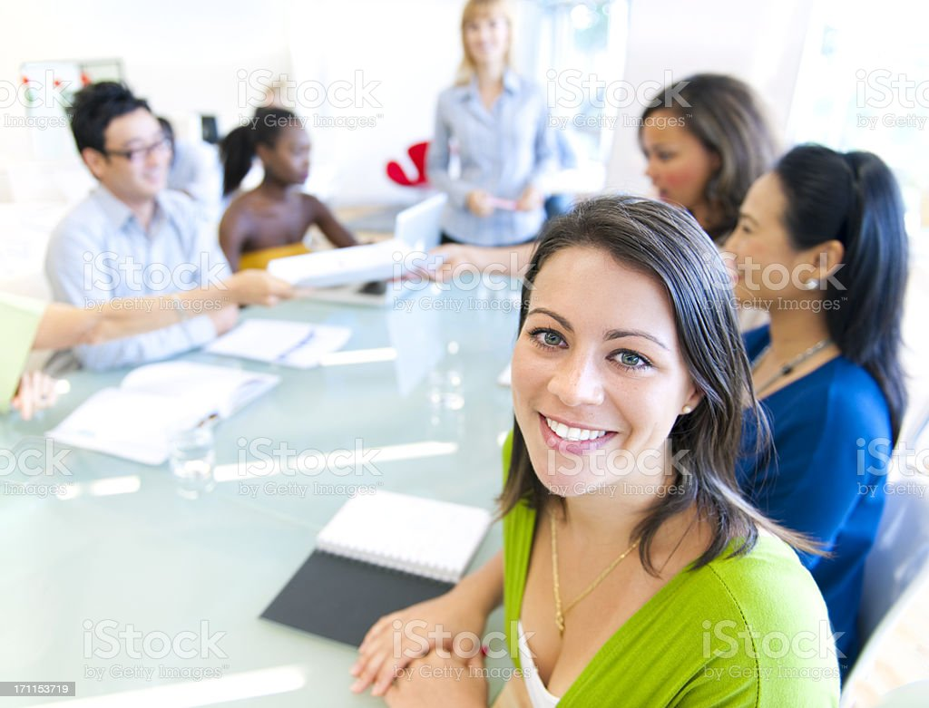 Large Casual Business meeting with real people royalty-free stock photo