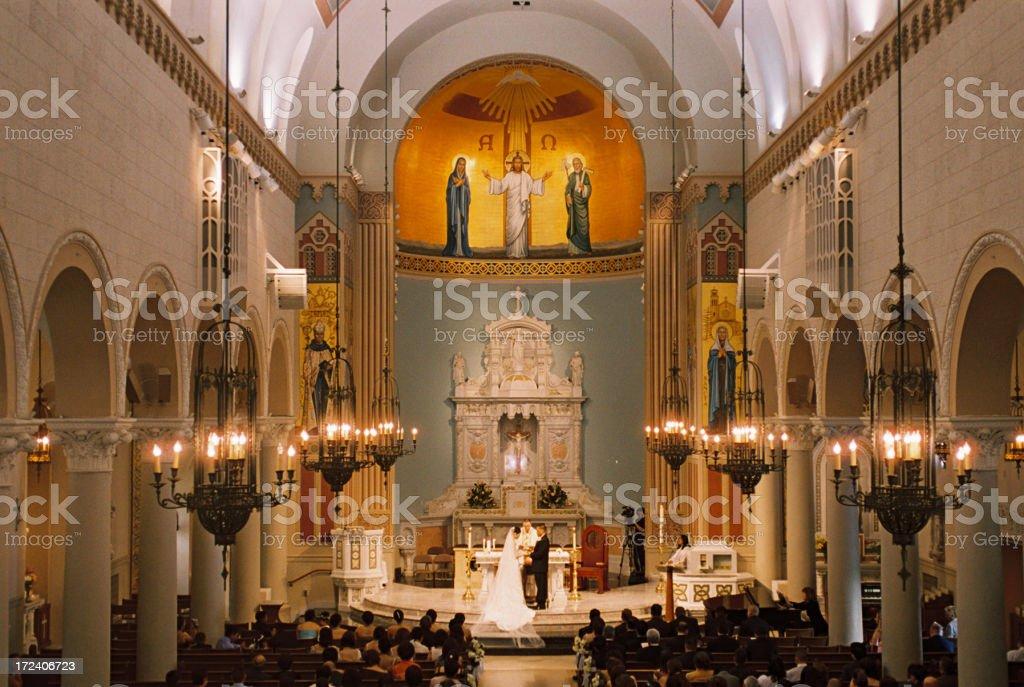Katholische Verlobungszeremonie
