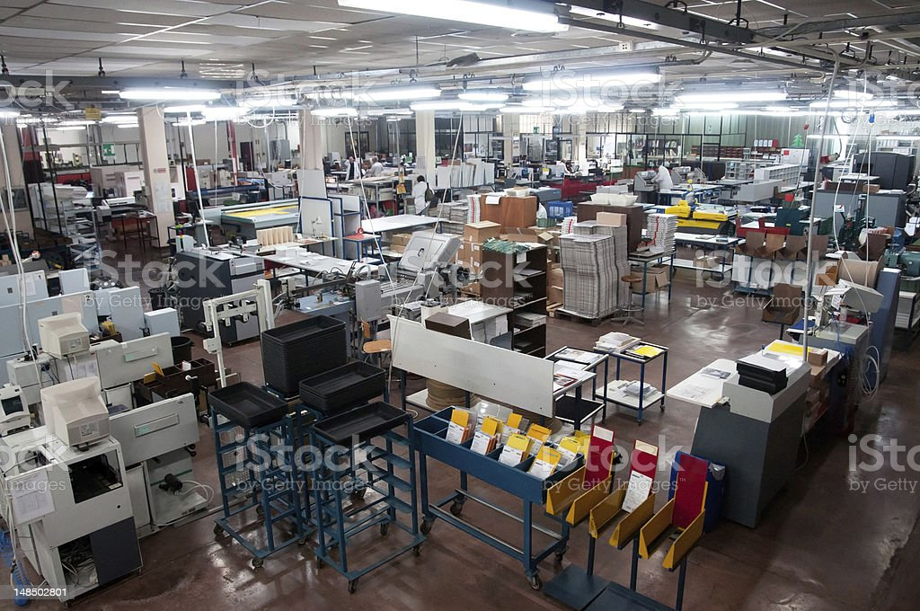 Large centralized photo developing labs royalty-free stock photo