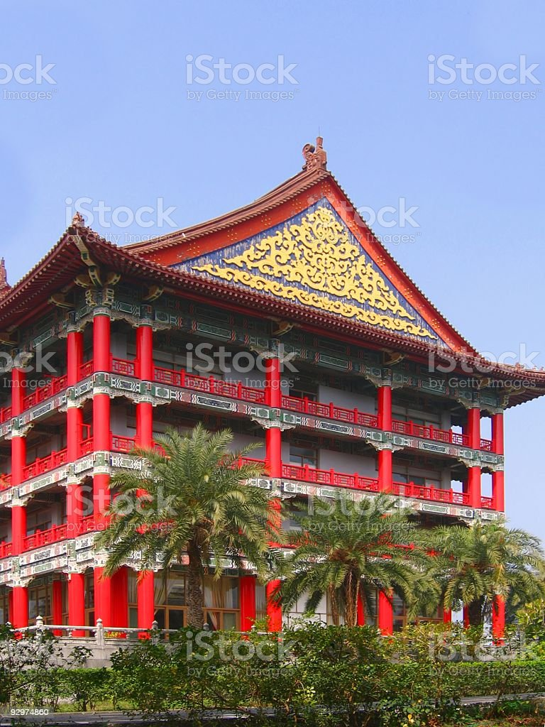 Large Chinese Style Building royalty-free stock photo