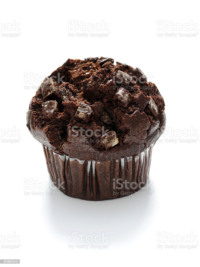 large chocolait chip muffin royalty-free stock photo