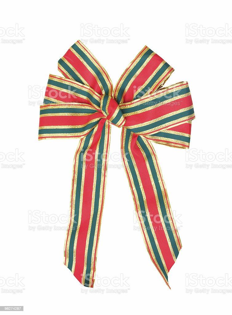 Large Christmas Ribbon, Isolated. royalty-free stock photo