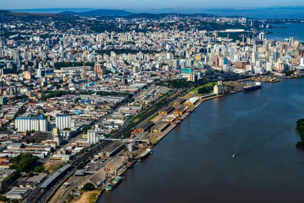 grandes cidades vistas de cima. - rio grande do sul - fotografias e filmes do acervo
