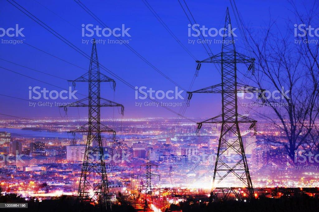 Large City Electrification stock photo