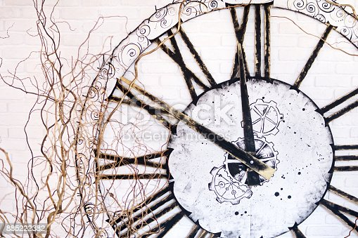 671883446 istock photo Large clock on the wall 885222382