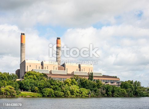 A view of a coal-fired power station, located outside the town of Huntly, on New Zealand's North Island.