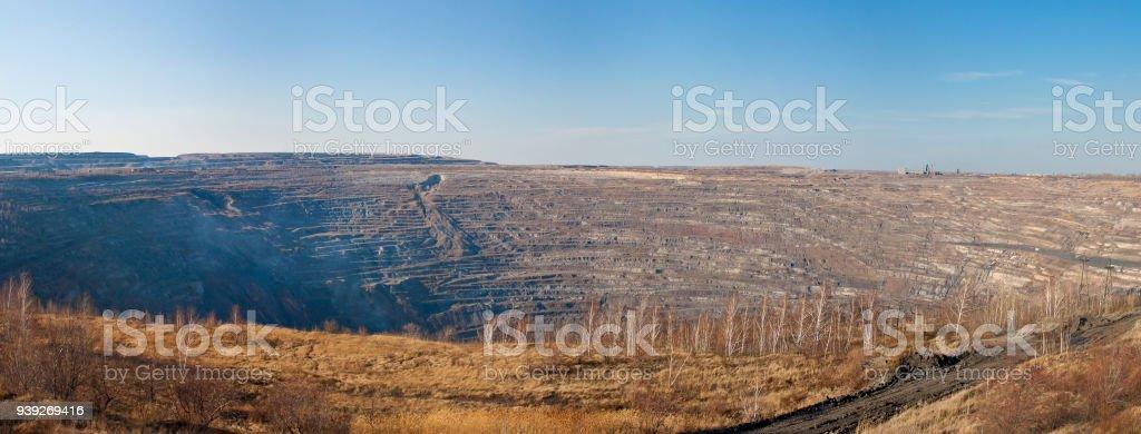 A large coal quarry стоковое фото