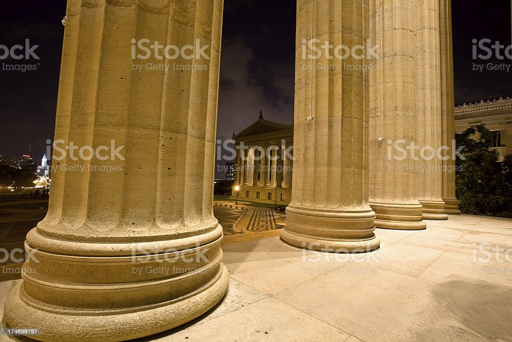 Large Columns stock photo