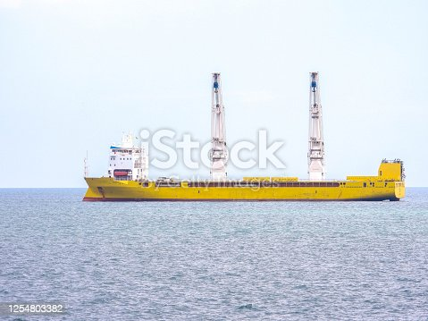 A large ship in the port of Catania, Sicily.