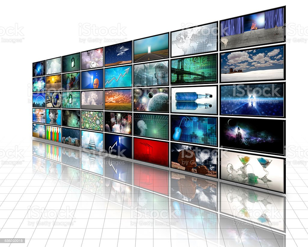 Large Composite Video Screeens stock photo