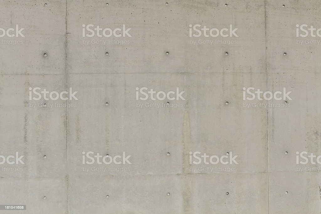 Large concrete wall with several holes for text royalty-free stock photo