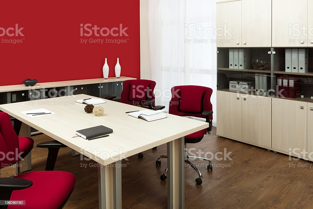 large conference table royalty-free stock photo