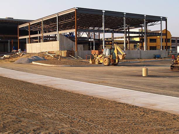 large construction site stock photo