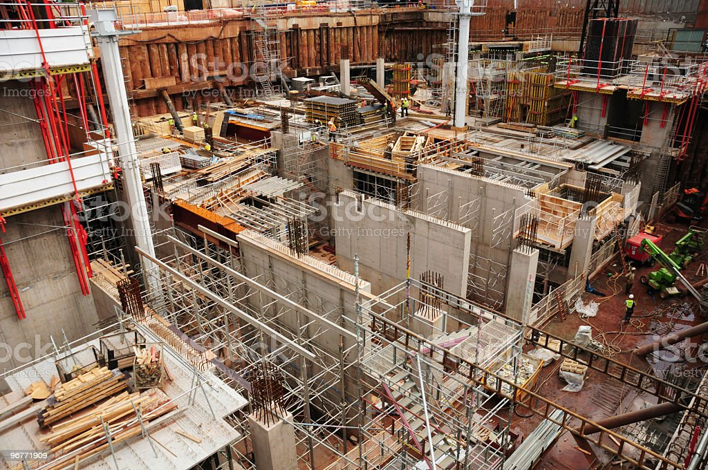 Large Construction Site royalty-free stock photo