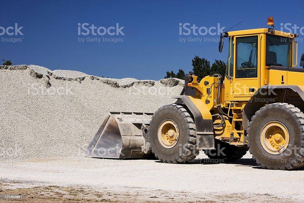 Large construction vehicle royalty-free stock photo