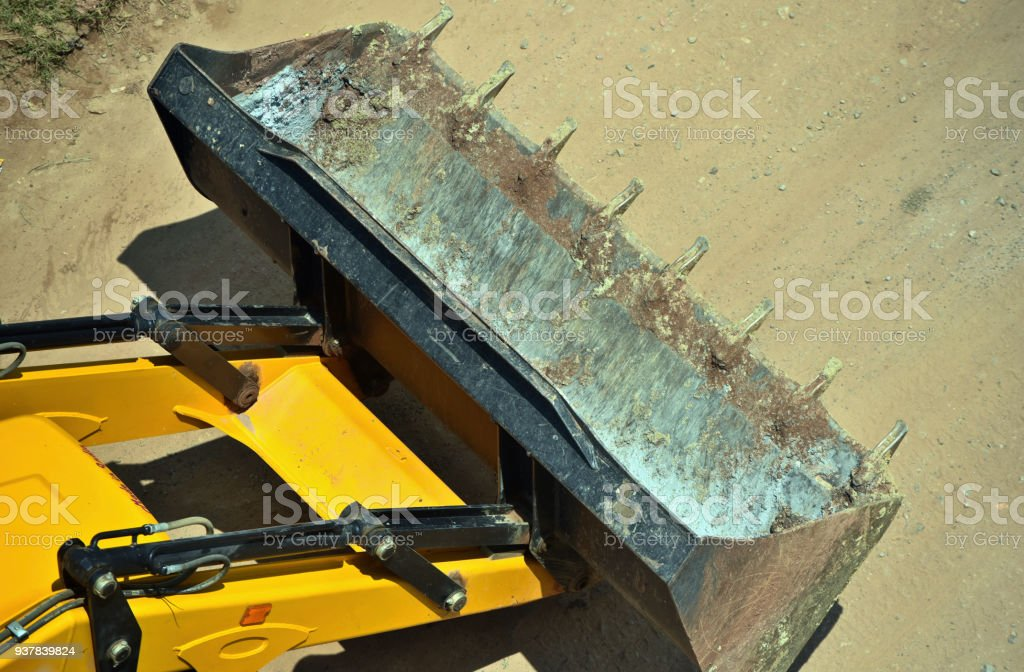 Large construction vehicles stock photograph stock photo