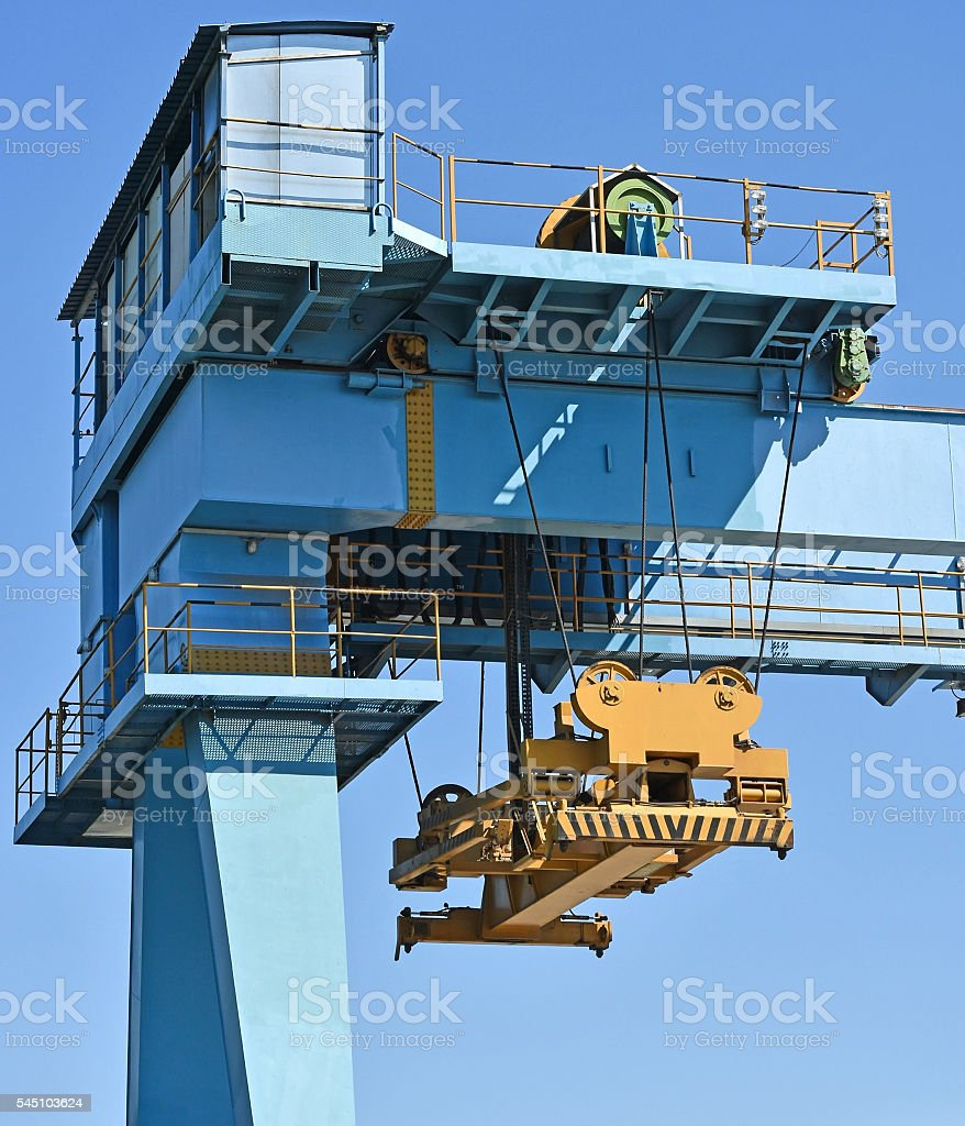 Large container crane stock photo