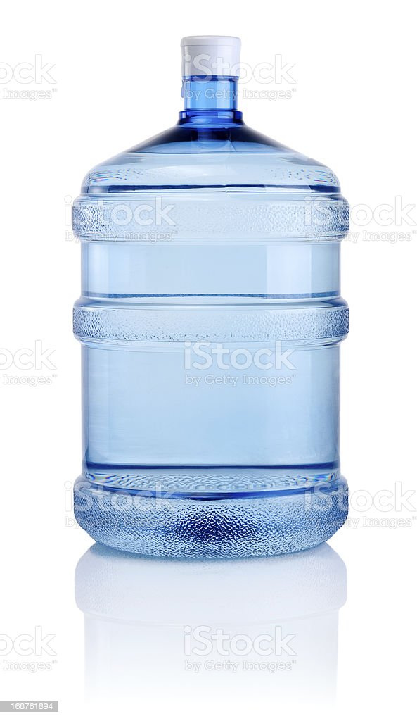 Large container of water isolated on a white background stock photo