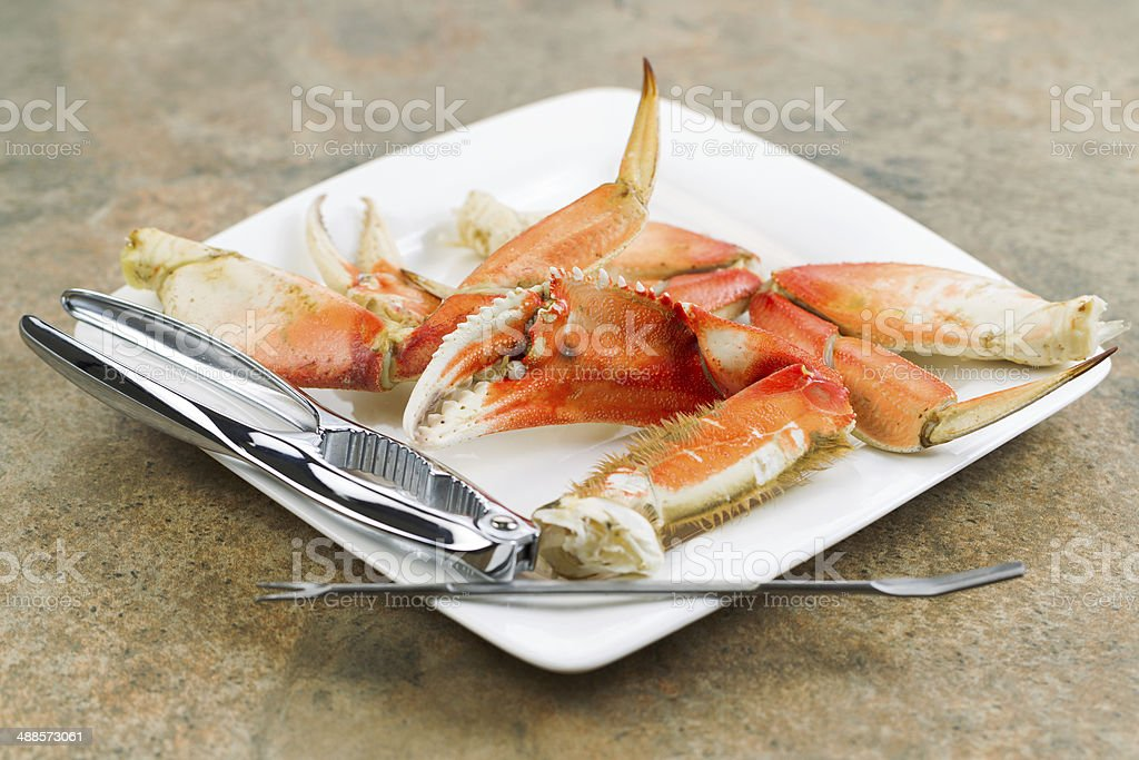 Large Crab Claw freshly Cooked stock photo