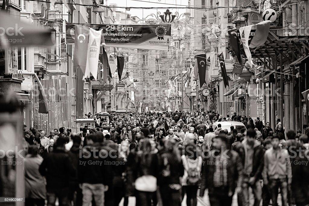 Large crowd in Taksim, Istanbul