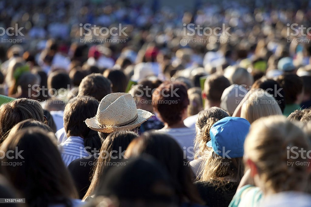 Large crowd of people royalty-free stock photo