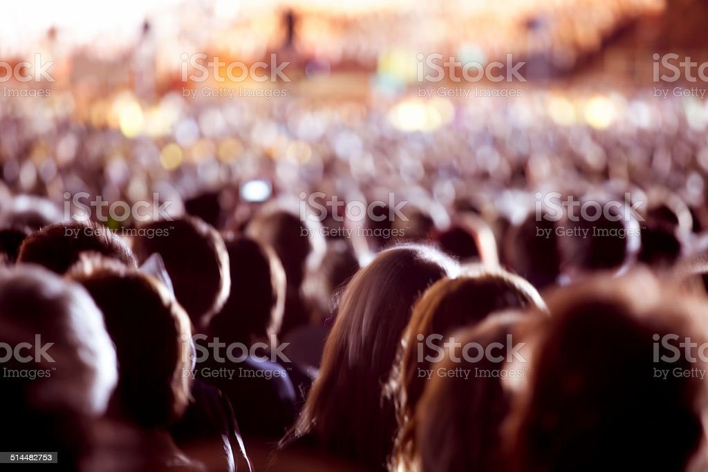 Large crowd of people stock photo