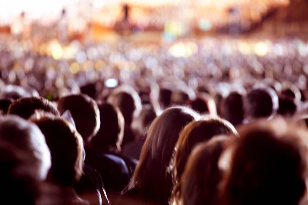 Large crowd of people foto