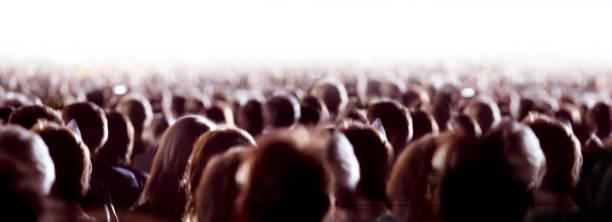 Grande folla di persone - foto stock