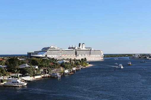 istock Large cruise ship leaves Port Everglades in Fort Lauderdale, Florida 513879908