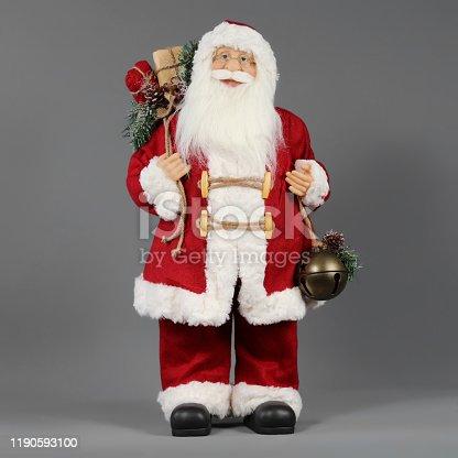 Santa Claus, Santa Hat, Snow, Statue, Winter