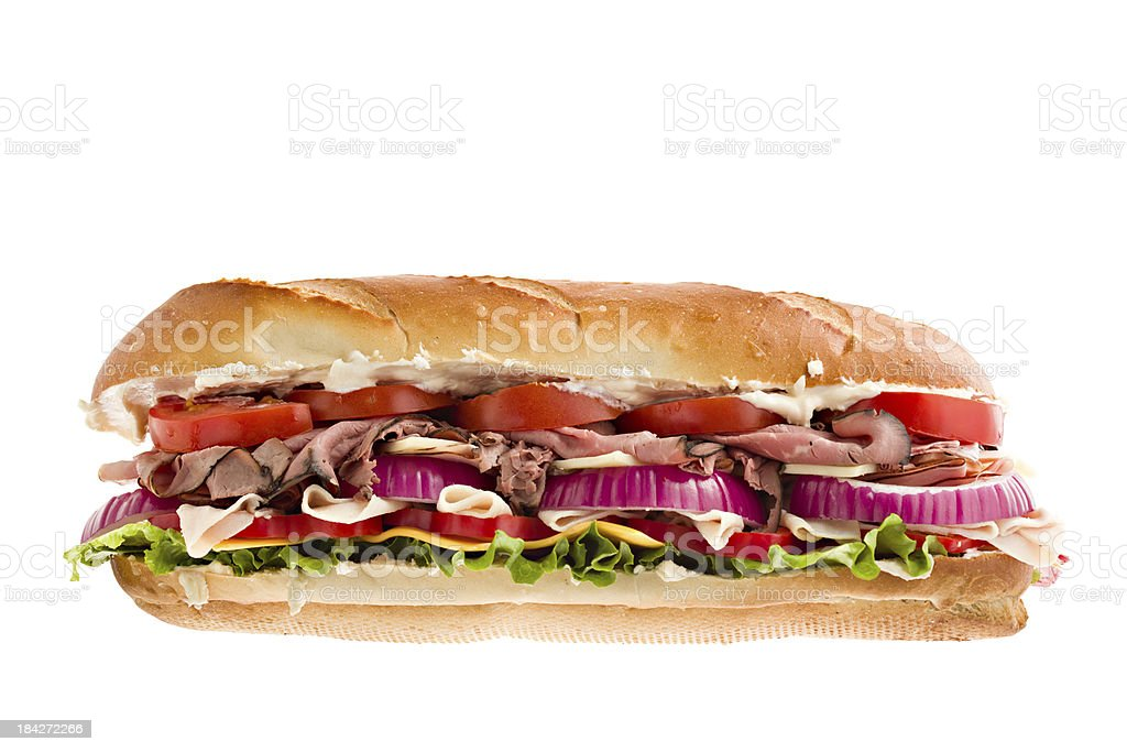 Large Deli Sandwich royalty-free stock photo