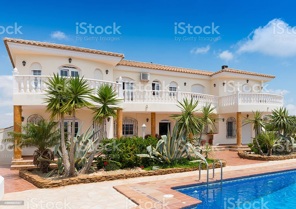 Large Detached House in Southern Spain stock photo