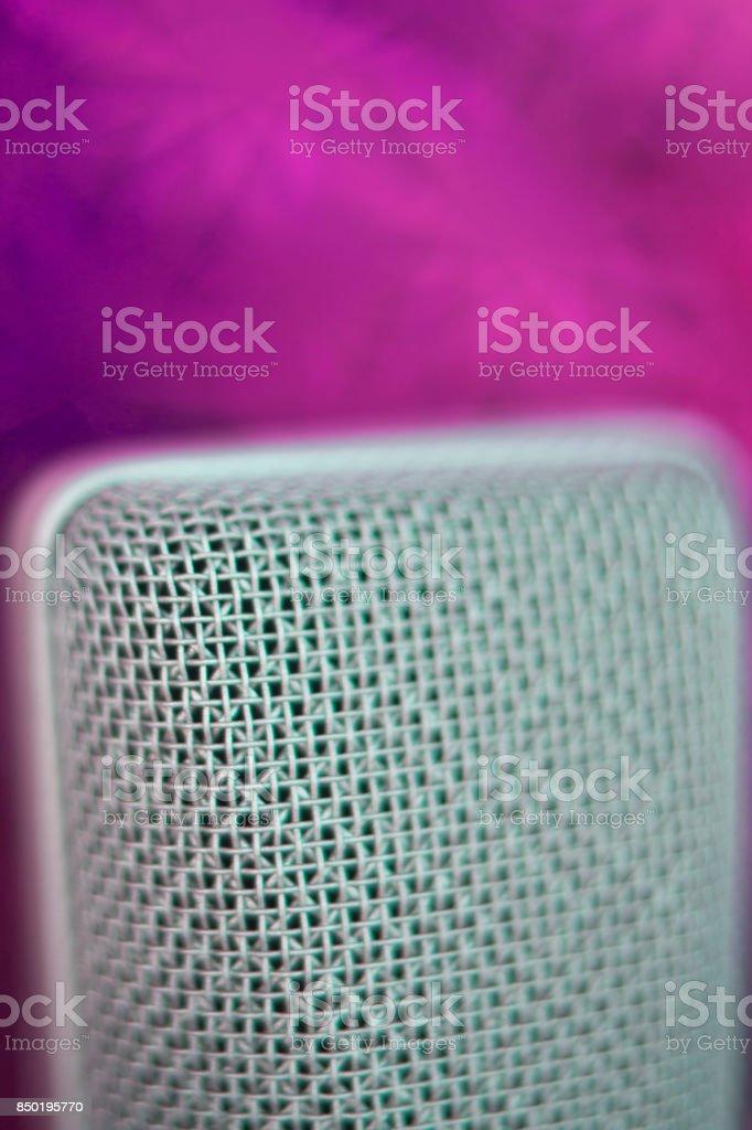 Large diaphragm condenser studio recording voice microphone to record...