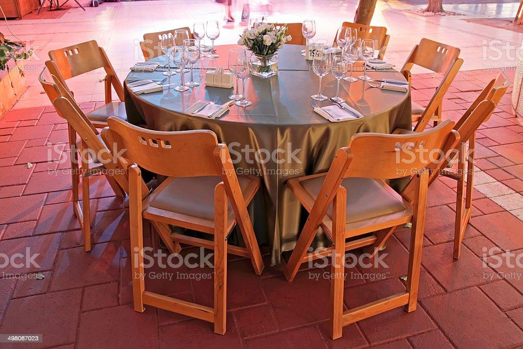 Mesa De Comedor Grande Con Disposición Para Bodas Foto de ...
