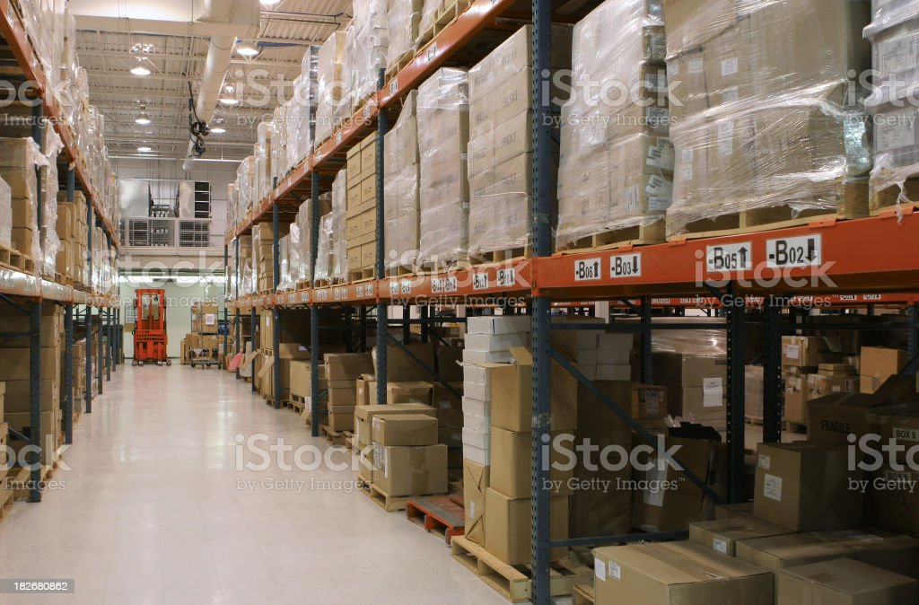 Large Distribution Center Interior royalty-free stock photo