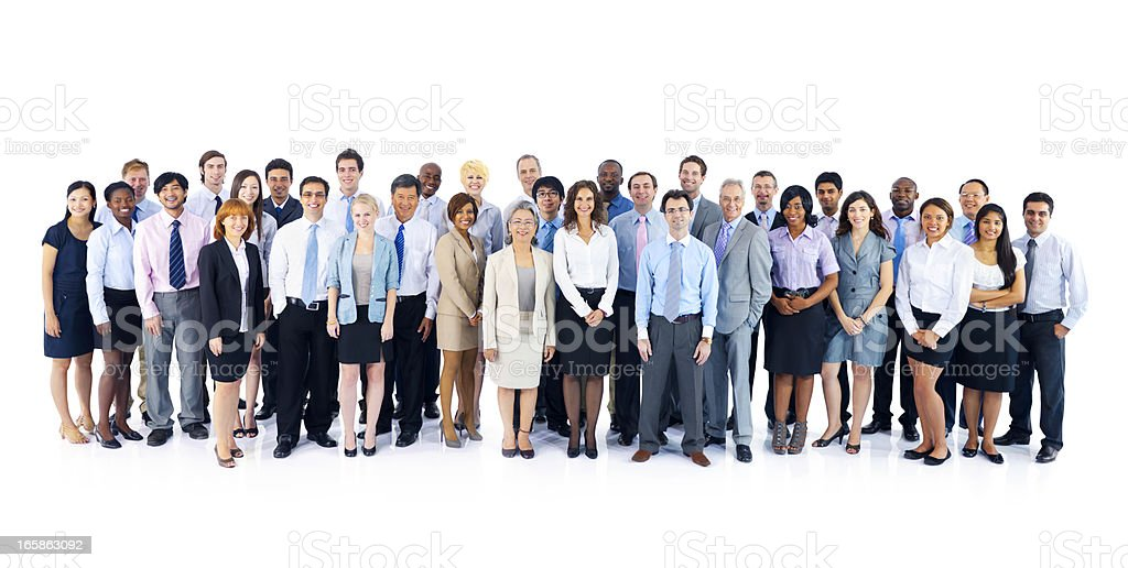Large, diverse, group of international business people royalty-free stock photo