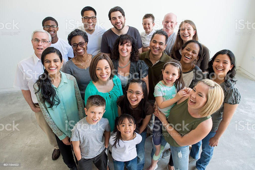 Large Diverse Group of People stock photo