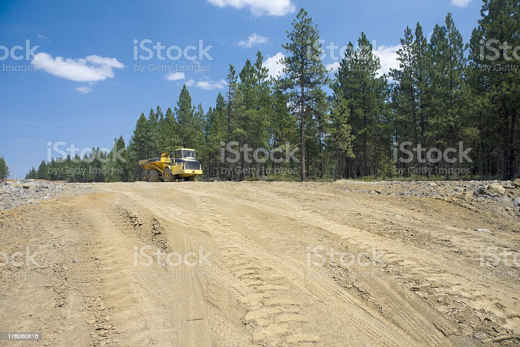 Large Dump Truck at Road Construction royalty-free stock photo