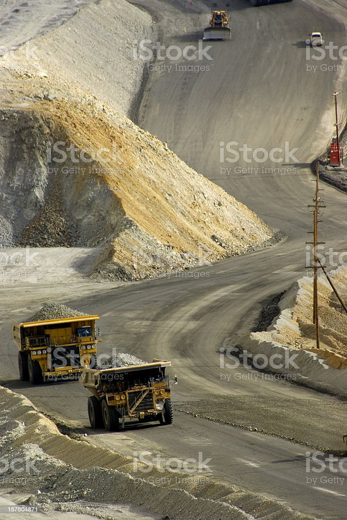 Large dump truck in Utah at a copper mine stock photo