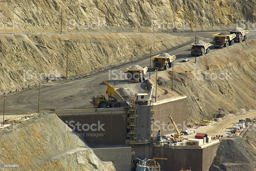 Large dump truck in Utah copper mine royalty-free stock photo