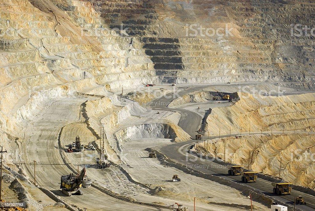 Large dumptruck in utah copper mine royalty-free stock photo