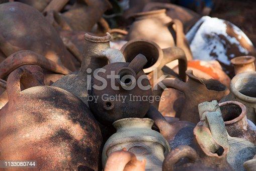 istock Large earthenware jars 1133080744