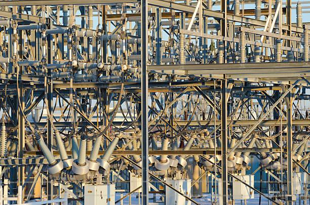 Large Electrical Substation stock photo