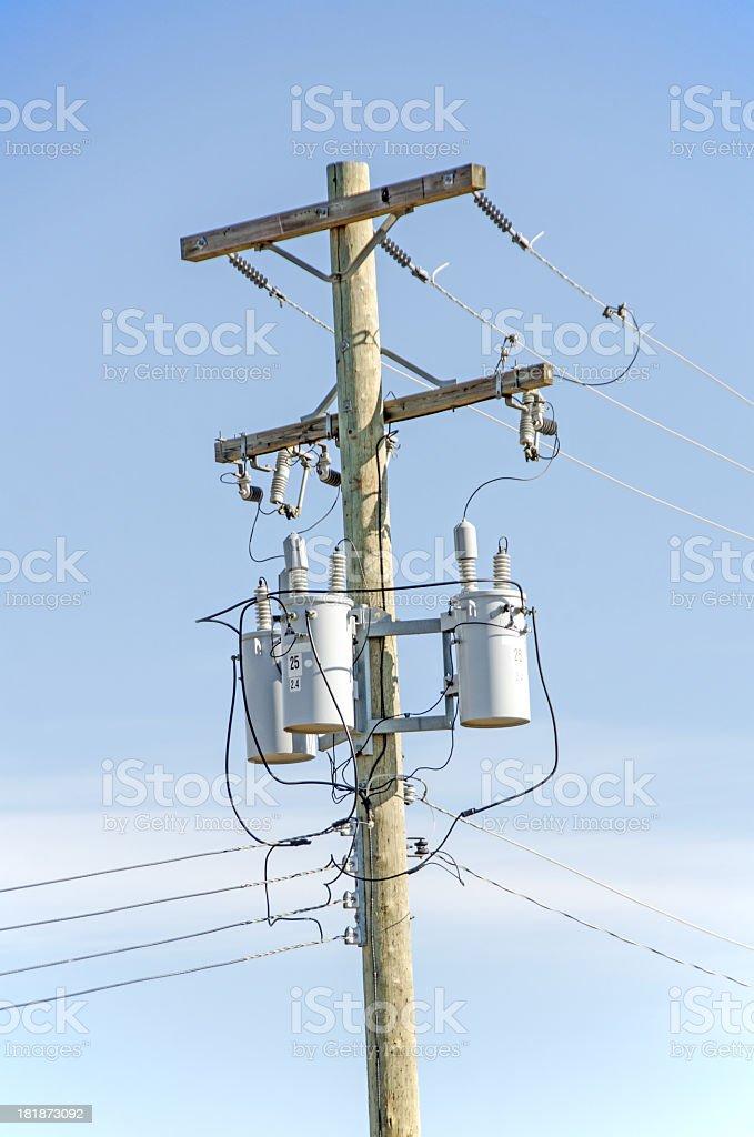 Large ElectricalPower Pole royalty-free stock photo
