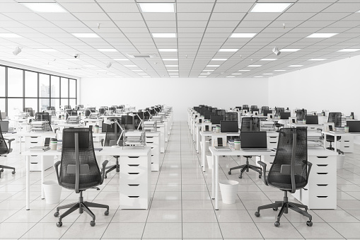 Large Empty Call Center Office
