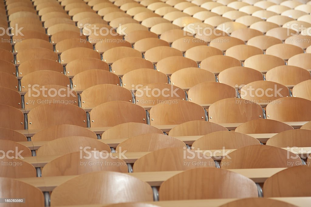 large empty classroom stock photo