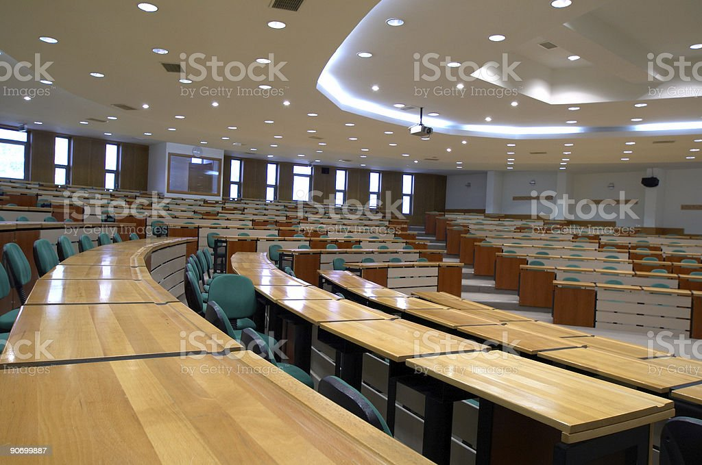 A large empty college classroom royalty-free stock photo