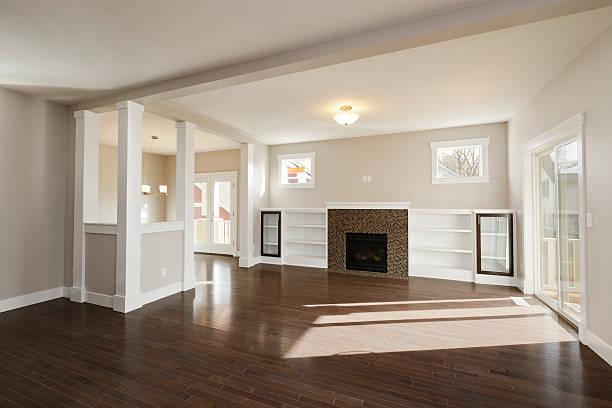 Large Empty Living Room stock photo