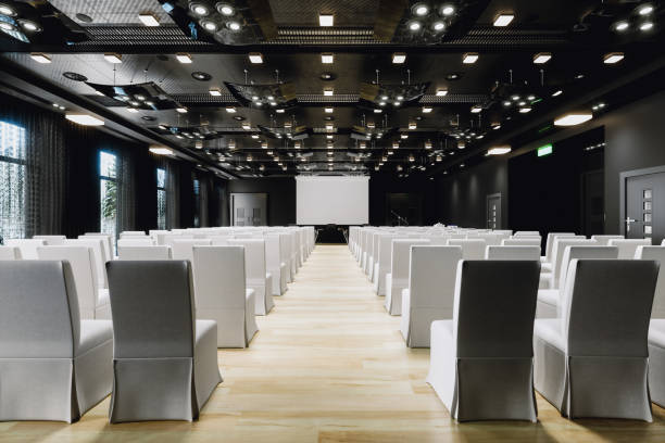 large empty modern conference room - entertainment building stock pictures, royalty-free photos & images