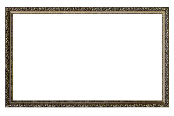 Large empty picture frame stock photo